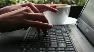 girl-typing