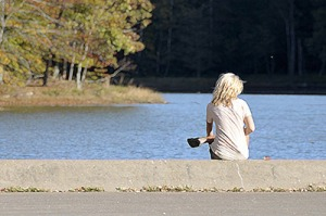 woman-alone-at-lake